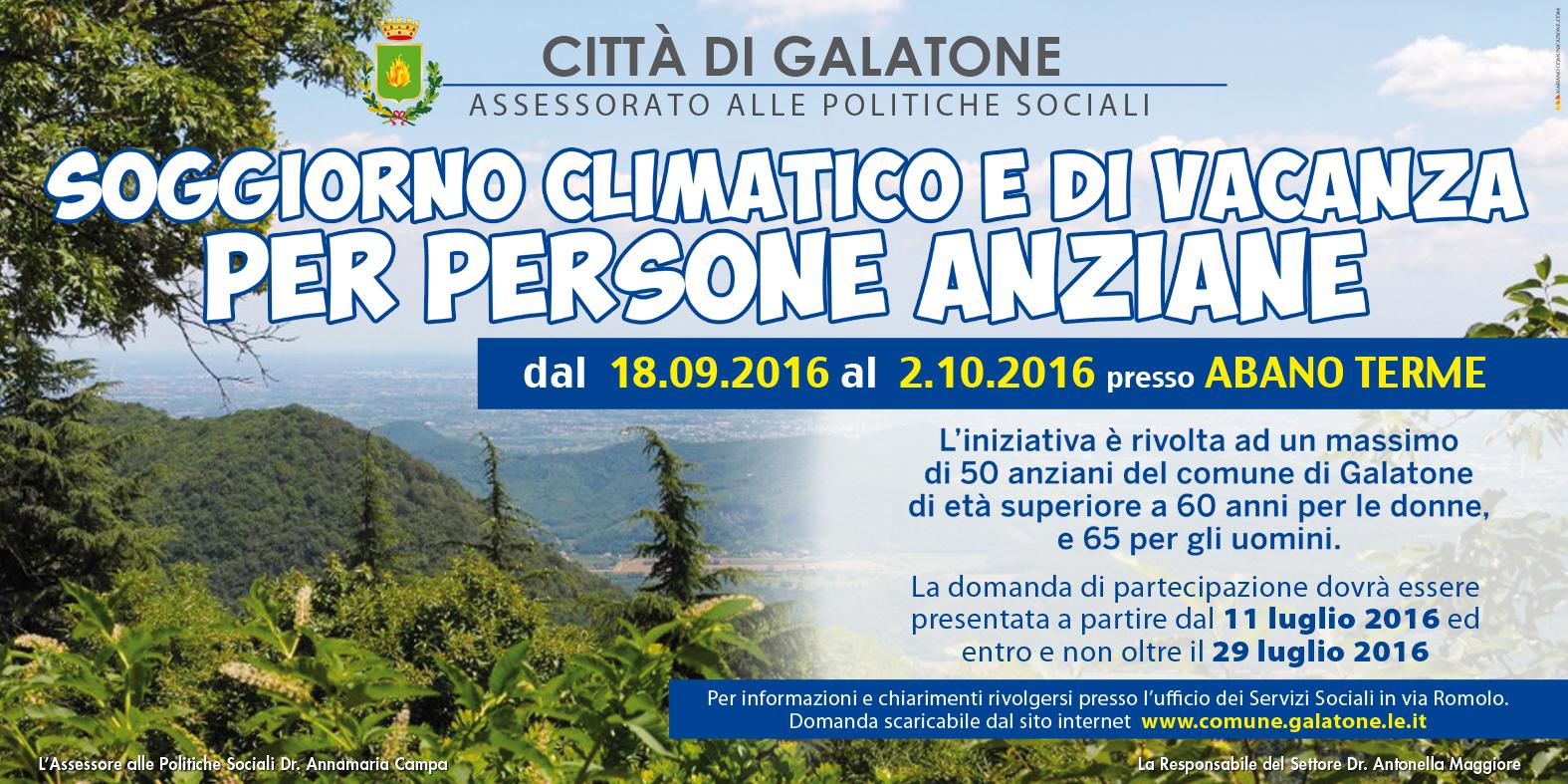 Comune di Galatone - SOGGIORNO CLIMATICO E DI VACANZA PER PERSONE ...